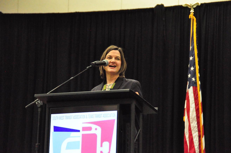 Kristen Joyner speaking at SWTA Conference